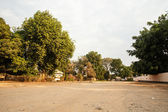 Dusty Road through center of Livingstone Town, Zambia - Africa — Stock Photo
