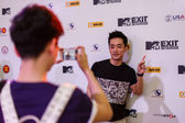 MTV Exit Press Conference in World Plaza Bangkok — Стоковое фото