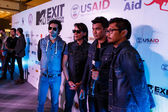 MTV Exit Press Conference in World Plaza Bangkok — Stockfoto
