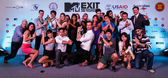 MTV Exit Press Conference in World Plaza Bangkok — Stok fotoğraf