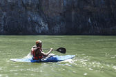 Extreme kayaker — Stock Photo