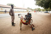 Disabled man in Zambia — Stock Photo
