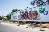 Banner in Zambia, Africa — Stock Photo