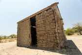 Basic Mud Hut at Katima Mulio - Namibia — Stock Photo