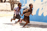 Kids playing in Namibia — Stock Photo