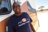 Guida - etosha safari park in namibia — Foto Stock