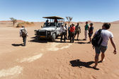Tourists in Namib Desert National Park — Stock Photo