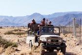 Tourists in Namib Desert National Park — Stock Photo