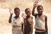 Poor African children — Foto Stock