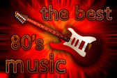Illustratie van de elektrische gitaar over explosieve achtergrond — Stockfoto