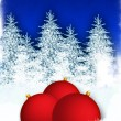 Royalty-Free Stock Photo: Winter background with red globes