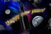 Invitation to an happy new year all over the world — Stock Photo