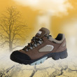 All terrain shoe in natural environment — Stok fotoğraf
