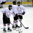 Switzerland hockey team on ice at Brasov stadium — Foto de Stock