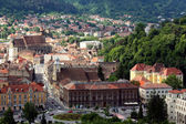 View over Brasov old city and Black Church — Stock Photo