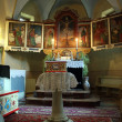 Secular altar from gothic church of Satu Nou from Romania — Stock Photo
