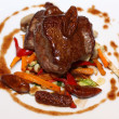 Grilled beef on white plate — Foto de Stock