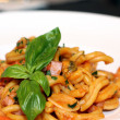 Plate of delicious seafood pasta — Stockfoto