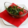 Stock Photo: Closeup scene with ruccolsalad and cherry tomatoes