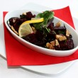 Beetroot salad on white plate — Stockfoto