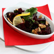 Beetroot salad on white plate — Stock Photo