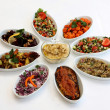 Fresh salads on restaurant table — 图库照片 #37099037