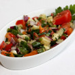 Stock Photo: Mixed salad on white plate