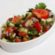 Stock Photo: Mixed salad with spinach, parsley, red cabbage and tomatoes