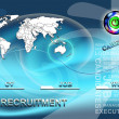 Stock Photo: Conceptual background for job agencies
