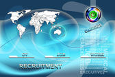 Conceptual background for job agencies — Stock Photo