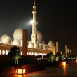 Sheikh Zayed Grand Mosque at night — Stock Photo #24985269