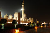 Sheikh Zayed Grand Mosque at night — Stock Photo