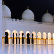 Stock Photo: Sheikh Zayed mosque at night