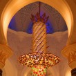 Chandelier inside of Sheikh Zayed Grand Mosque — Stock Photo #27882565