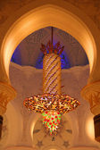 Chandelier inside of Sheikh Zayed Grand Mosque — Stock Photo