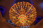 Сhandelier inside of Sheikh Zayed Mosque — Stock Photo