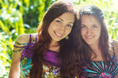 Friendship smiling two girls — Stock Photo