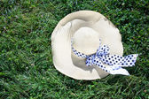White straw hat — Stock Photo