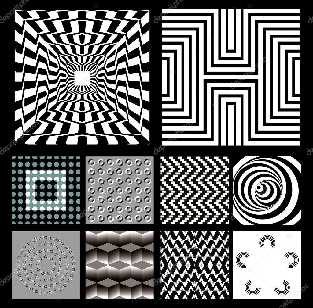 视觉上的错觉, 背景, 矢量, 线, 插图, 黑白, 新— 矢量图片作者 blue