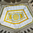 Stockfoto: Glass atrium on roof of Warsaw Polytechnic in Poland