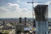Panorama von warschau mit modernen gebäude — Stockfoto