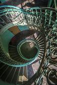 グランジ、古い階段の影 — ストック写真