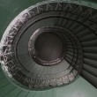 Spiral stairs hall abstract point of view from down — Stock Video #12567702