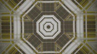 Kaleidoscopic abstract fractal animation — Stock Video