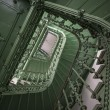 Retro, green staircase — Stock Photo