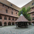 Courtyard at Malbork castle — Stock Photo #12766422