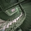 Stock Photo: Vintage, green spiral staircase