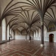 Chamber in greatest Gothic castle in Europe - Malbork. — Stock Photo