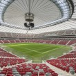 Presentation of the opening and closing the stadium roof — Stock Photo