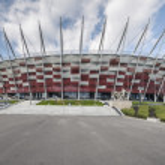 Entrance to National stadium, Warsaw — Stock Photo